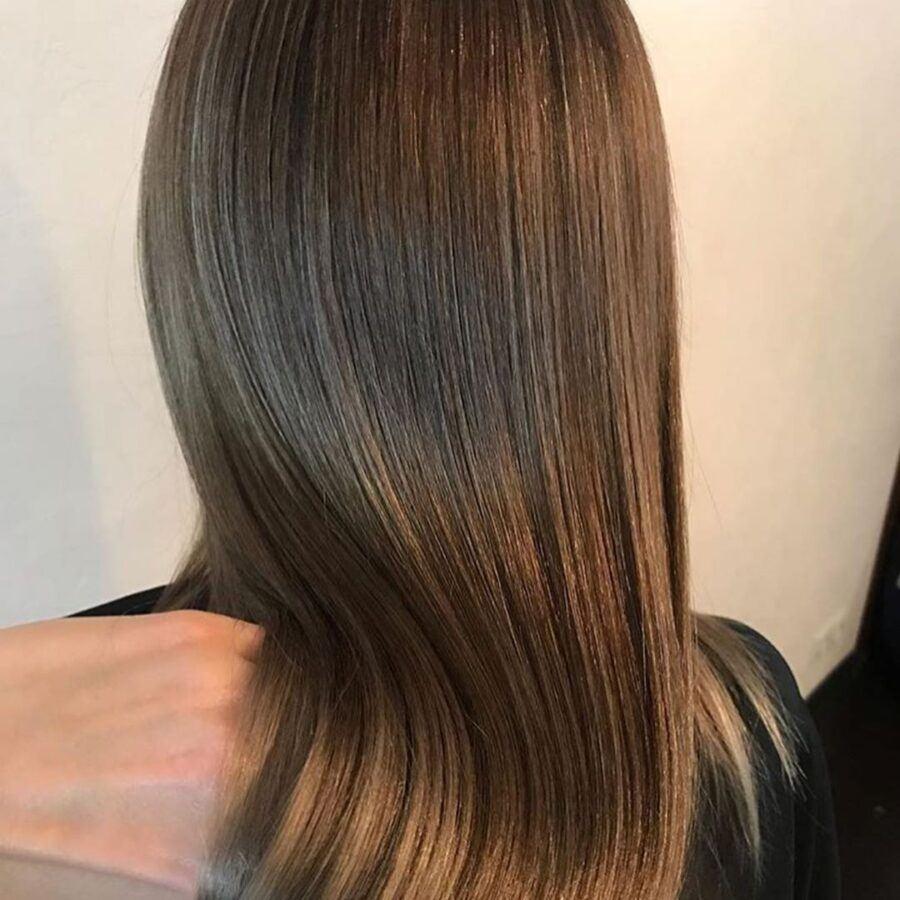 окрашивание волос и укладка